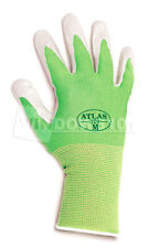 1 Pair Green Atlas Showa 370 Nitrile Gloves - Garden Auto Work Paint Landscaping