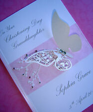 Personalised Christening Card Baby Girl: Daughter, Granddaughter, Niece, Cousin