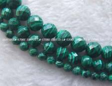 """6mm 8mm 10mm Man-made Malachite Faceted Round Beads 15"""""""