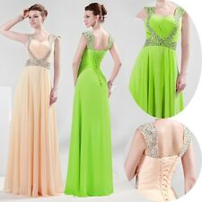 Chic Beautiful sexy Chiffon Long Formal Prom Dress Party Bridesmaid Evening Gown