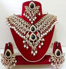 Indian Bollywood Kundan Diamantes Bridal Necklace Set with Earrings 2009