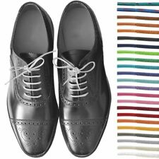 New Round Wax Cotton Thin Shoe Laces 2.5mm 75cm Waxed For Leather Oxford Brogues