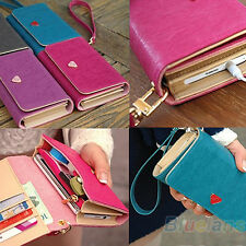 FOR SAMSUNG GALAXY S2 S3 CASE COVER LEATHER WALLET PURSE HOT GIFT BA4K