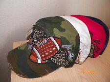 Bling FOOTBALL Hat Wings Stars Cadet Military Cap Mom Rhinestones Team NEW