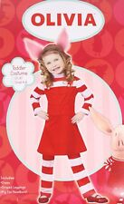 CUTE OLIVIA the Pig Costume Dress Red Striped Child Toddler
