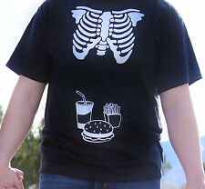 Mens Skeleton Xray sympathy bump shirt - Dad to match halloween maternity shirt