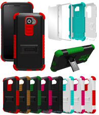 RUGGED TRI-SHIELD SOFT SKIN HARD CASE STAND SCREEN PROTECTOR FOR LG G2 PHONE