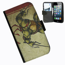 TMNT Turltes phone 5 5s leather side wallet case cover for apple iphone 5 5s