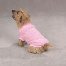 East Side Collection CHENILLE CABLE KNIT Dog Sweater LIMITED SIZES & COLORS SALE