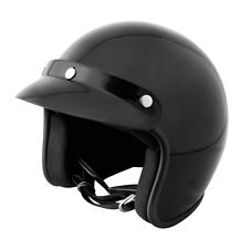 Lunatic Open Face Helmet Gloss Black - DOT Approved - Adult Motorcycle Helmet