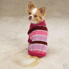 Casual Canine RIBBED KNIT STRIPED Dog Sweater CLEARANCE Hurry!!