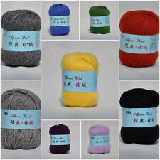 Wholesale!Super Warm Alpaca Cashmere Wool Scarf/Sock Knitting Yarn lot;17 Colors