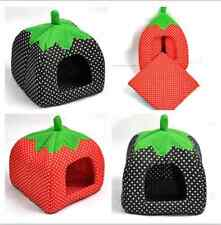 Removal Soft Strawberry Pet Dog Cat Bed House Kennel Doggy Warm Cushion Basket