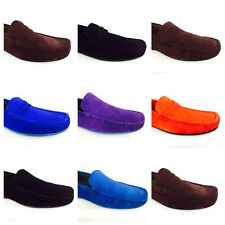 Mens Real Suede Leather Slip On Moccasin Comfort Driving Shoes Loafers Size 6-11