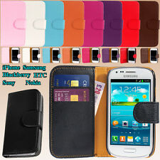 Flip Wallet Leather Case Cover Credit Card Slot Camera Hole Magnetic for Phone