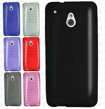 AT&T HTC ONE MINI TPU CANDY Flexi Hard Gel Skin Case Phone Accessory Cover Plaid