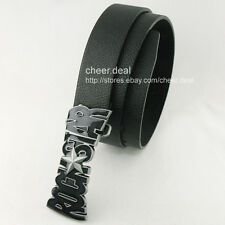 Super Rock Star Music Musical Band Mens Boys Metal Buckle Genuine Leather Belt
