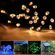100 LED 55ft Solar Fairy String Lights for Outdoor Gardens Homes Christmas Party