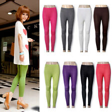 Women Candy Color Slim Leggings Sweet Stretch Pants Trousers Footless