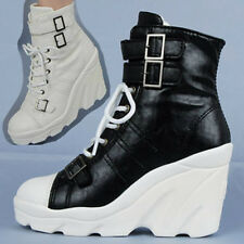 Wedges Trainers Heels Sneakers Platform High Top Lace Ups Zip Boots Ladies Shoes