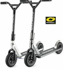 OSPREY EXTREME STUNT DIRT SCOOTER - AIR TYRES - KIDS/ADULTS - GUNMETAL & WHITE