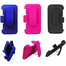 Holster + Swivel Belt Clip for Samsung Galaxy S4 Hybrid Impact Case Cover Case