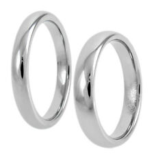 Tungsten Comfort Fit Polished Plain Band Wedding Ring 3mm or 4mm Size 5-15