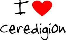 I Love Heart Ceredigion Removable Wall Art Decal