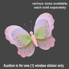 BUTTERFLY VINYL STICKERS car vehicle auto automobile window pink purple decal