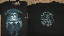 Sons of Anarchy SOA Reaper Desert Ride Tv Show Black T-Shirt Nwt