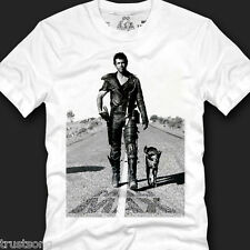 100% Cotton Basic Graphic Men's T-shirt Top Tee-MAD MAX Mel Gibson on the road