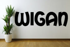 Wigan text Removable Wall Art Decal