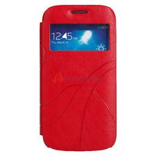 PU Leather Smart View Window Wake Flip Case Cover Shell for Samsung Galaxy i9190