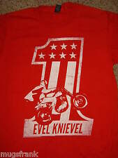 Evel Knievel Daredevil #1 Motorcycle Red T-Shirt