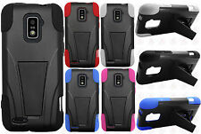 Boost Mobile Warp 4G ZTE N9510 Hard Advanced HYBRID KICKSTAND Rubber Case Cover