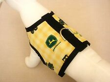 Dog Harness Vest Clothes Apparel Made From John Deere Fabric