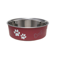 Loving Pets BELLA BOWL Stainless Steel X LARGE Dog Feeder Bowl 10 COLOR CHOICES