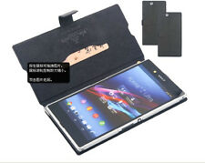 Genuine Real Leather Case Flip Wallet Cover Stand for Sony Xperia Z Ultra XL39h