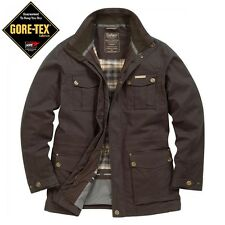 Craghoppers Field II Mens Gore-Tex Jacket Waterproof Waxed Cotton Lined Jacket