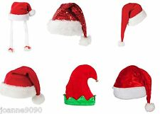 FESTIVE FATHER CHRISTMAS SANTA ELF FANCY DRESS COSTUME ACCESSORY XMAS PARTY HAT
