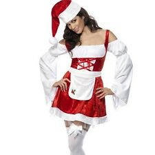 Ladies Christmas Fancy Dress Fever Christmas Maid Costume S & M New 1st Class