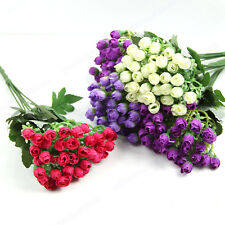 New Beautiful Little Roses Wedding Bouquet Artificial Flowers Decoration