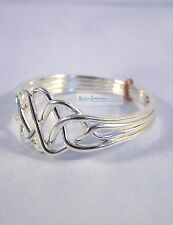 Silver 4 Band Turkish Puzzle Ring - Open Weave Style - Sterling Plated