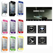 For iPhone 5S 5C 5 Znitro Nitro Color Tempered Glass LCD Screen Protector Cover