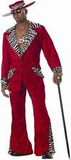 New Mens Mac Daddy Costume Gangster Retro Pimp Outfit