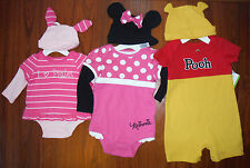 New Disney Minnie Mouse Piglet Winnie the Pooh 2pc set NB 9m 12m 24m