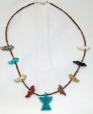 Navajo Native American Animal Fetish Necklace with Thunderbird Pendant FREE SHIP