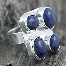 Sterling Silver Sodalite Adjustable Ring (Mexico)