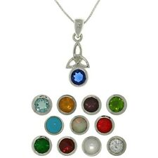 Carolina Glamour Collection Sterling Silver Celtic Birthstone Necklace