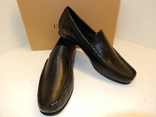 NEW COLE HAAN RANSFORD BLACK NAPPA SOFT LEATHER UPPER LOAFERS W/ LEATHER SOLE